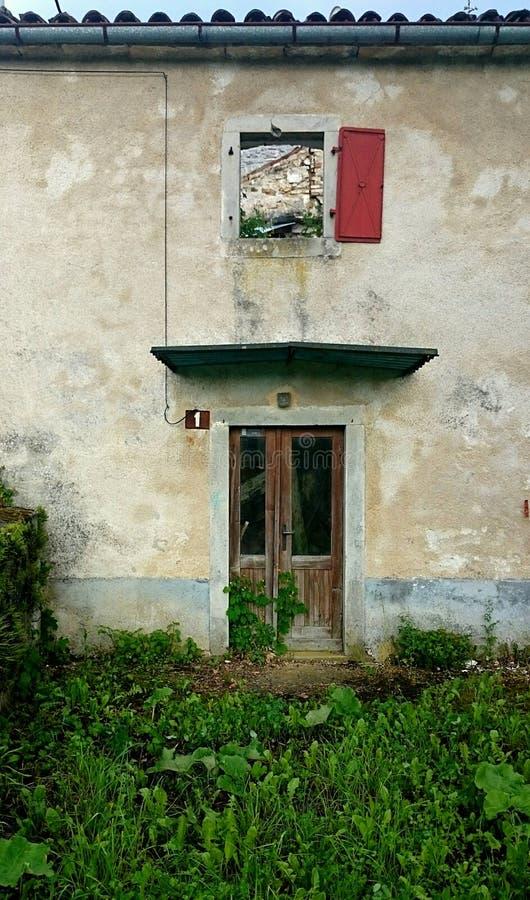 Oud Deur en Venster stock fotografie