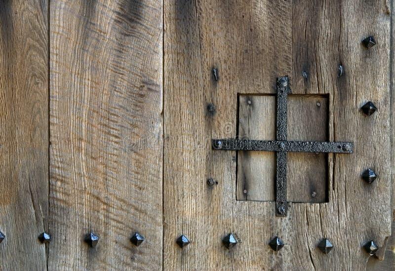Oud deurdetail royalty-vrije stock afbeelding