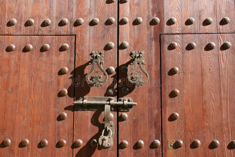 Oud deurhangslot royalty-vrije stock foto