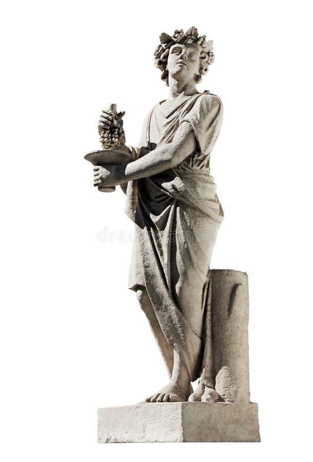 Oud Dionysus-Beeldhouwwerk royalty-vrije stock foto