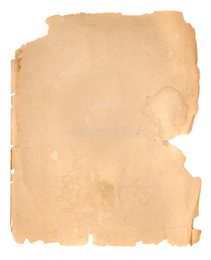 Oud document 5 stock afbeelding