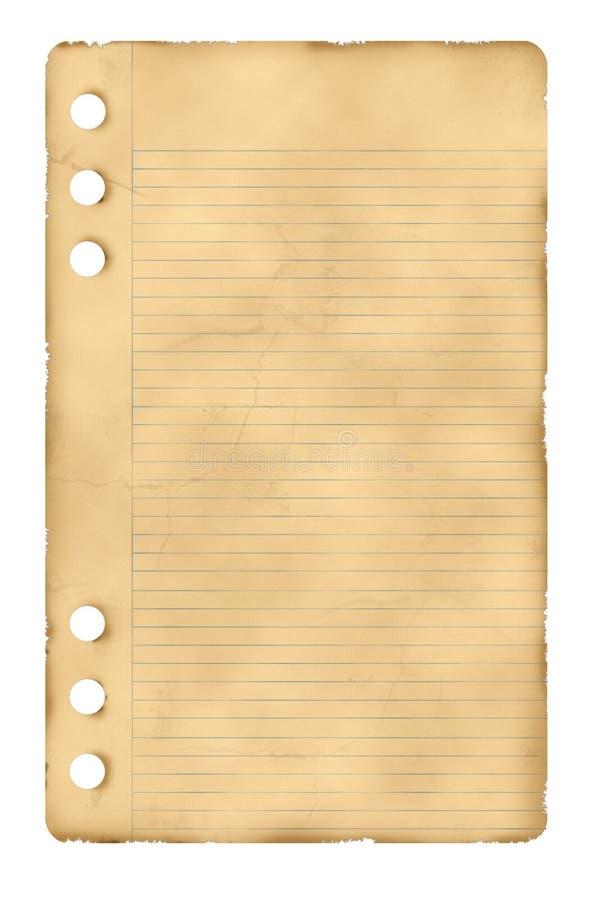 Oud document blad stock afbeeldingen