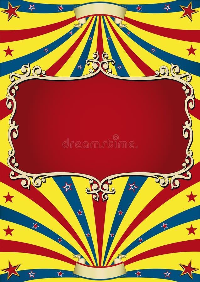 Oud document circus vector illustratie