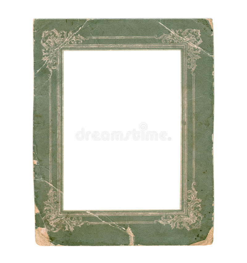 Oud document fotokader royalty-vrije stock foto's