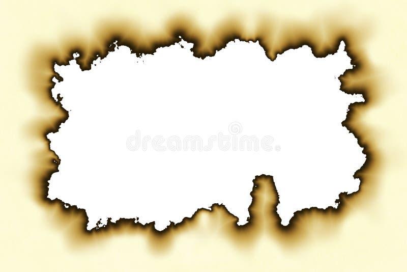 Oud document met gebrande randen royalty-vrije stock afbeeldingen