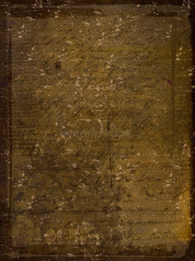 Oud document met handschrift royalty-vrije illustratie