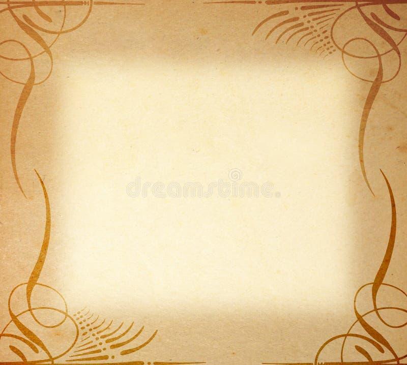 Oud Document op het Ornament van het Frame royalty-vrije stock afbeeldingen
