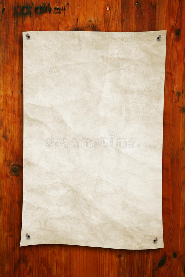 Oud document op hout stock afbeeldingen