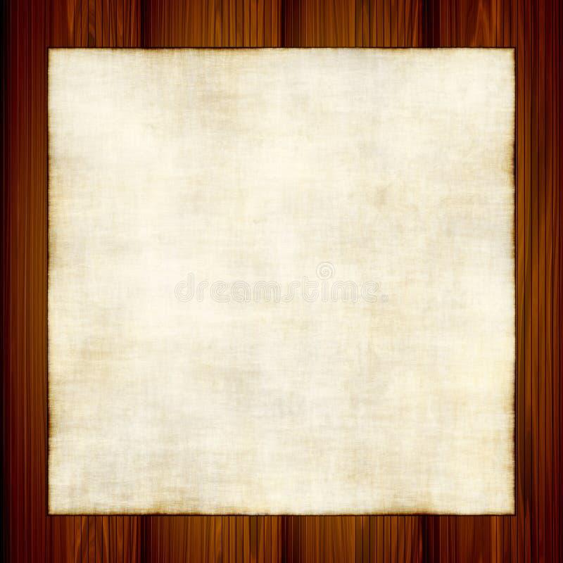 Oud Document op Hout stock illustratie
