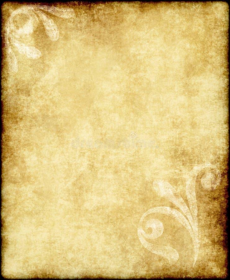 Oud document of perkament stock foto's