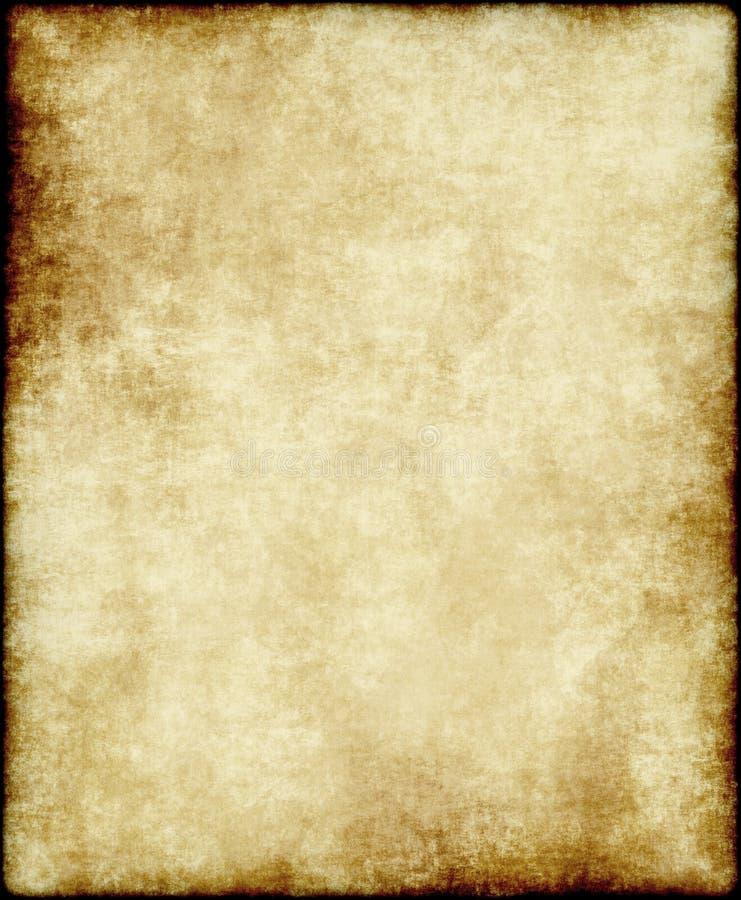 Oud document of perkament royalty-vrije illustratie