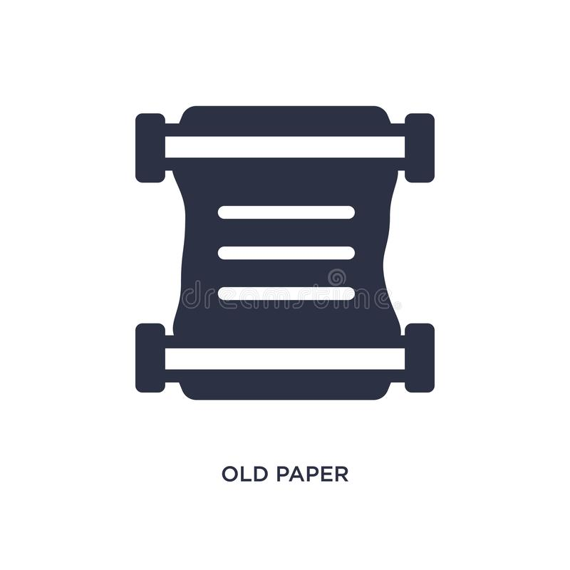 oud document pictogram op witte achtergrond Eenvoudige elementenillustratie van geschiedenisconcept vector illustratie