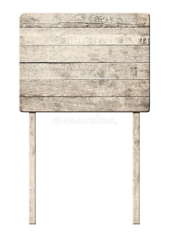 Oud doorstaan houten teken stock fotografie
