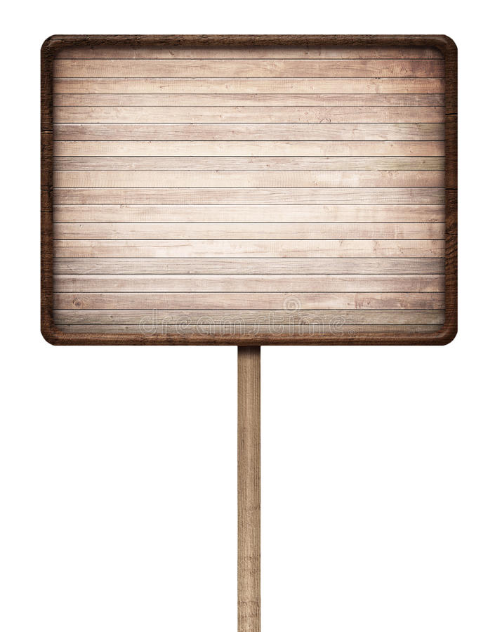 Oud doorstaan houten teken royalty-vrije stock foto's