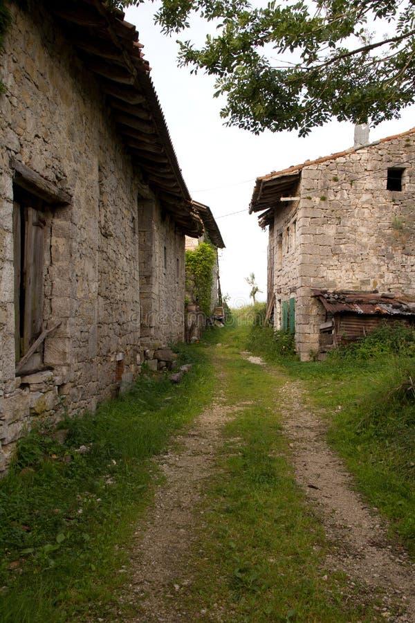 Oud dorp stock foto