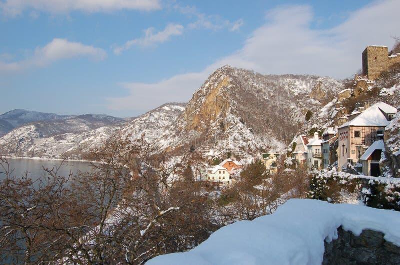 Oud dorp in bergen 2 royalty-vrije stock foto