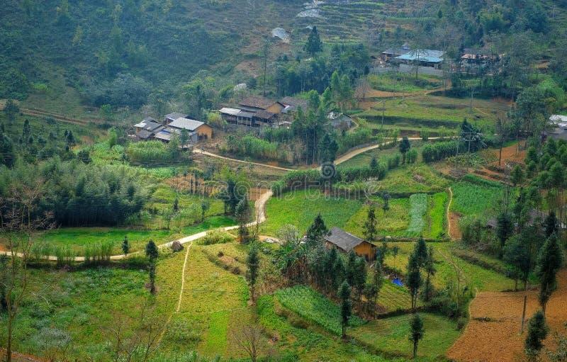 Oud dorp, Lao Cai, Vietnam stock afbeeldingen