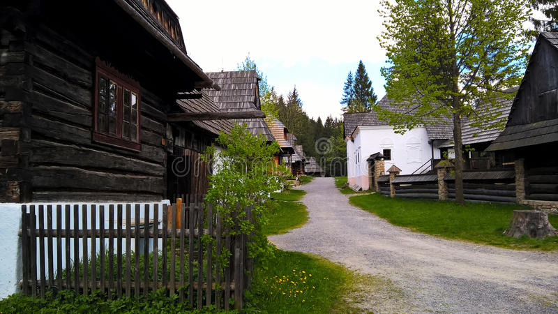 oud dorp in Slowakije royalty-vrije stock afbeelding