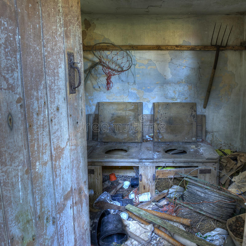 Oud dubbel toilet, Worcestershire stock foto's