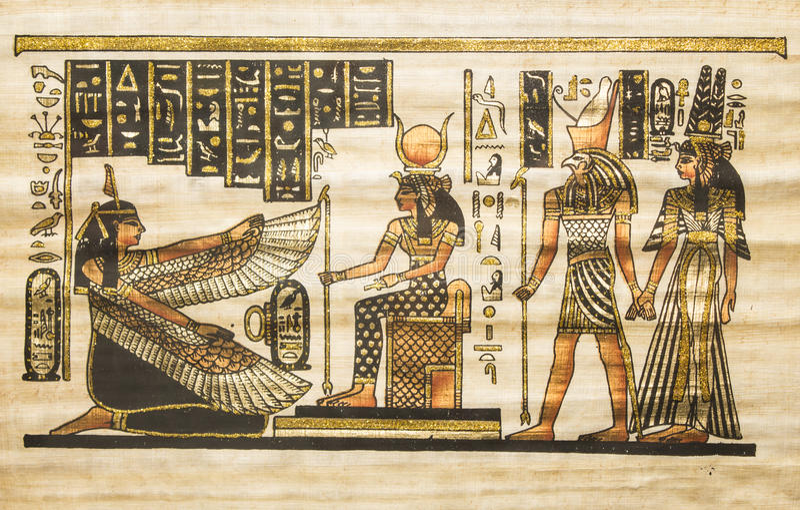 Oud Egyptisch perkament stock fotografie