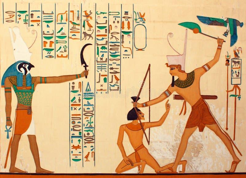 Oud Egyptisch pharaonic art. royalty-vrije stock fotografie