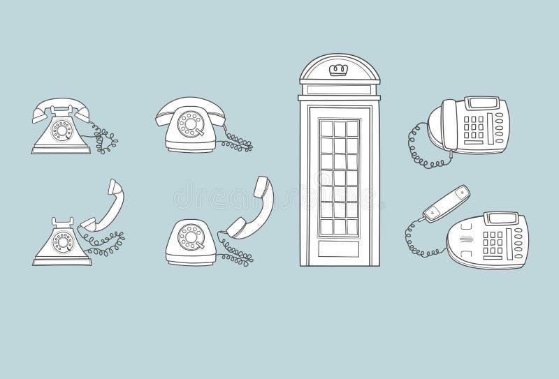 Oud en Nieuwe telefoons stock afbeeldingen