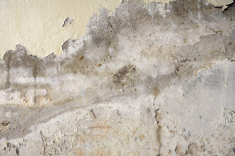 Oud en verslechter concrete muur royalty-vrije stock fotografie