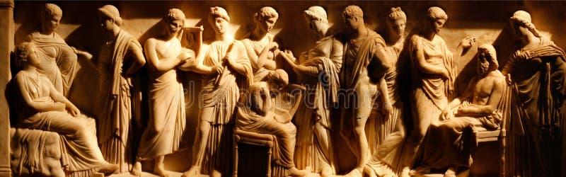 Oud etruscan art. stock afbeeldingen