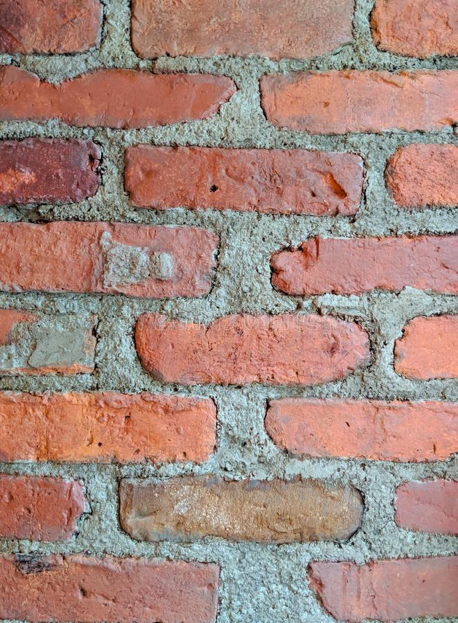 Oud-fashioned Brick and Mortar Wall stock foto