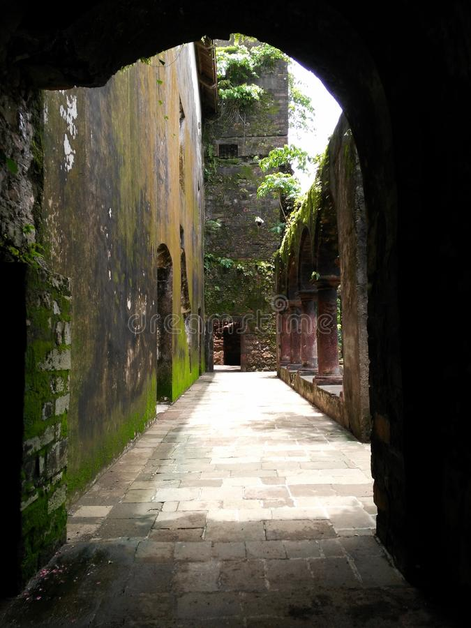 Oud fort stock afbeelding