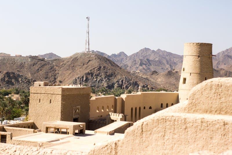 Oud fort beroemd voor bouw oude die architectuur voor binnenland en buitenkanten wordt gebruikt behang en zandige geweven royalty-vrije stock foto's