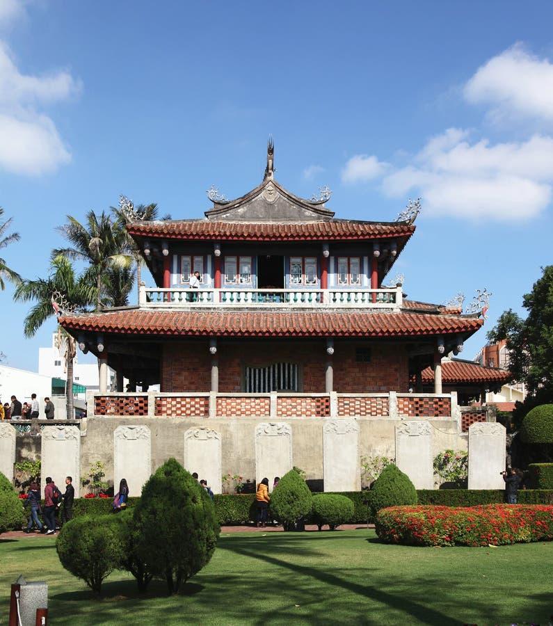 Oud fort in Tainan, Taiwan stock foto