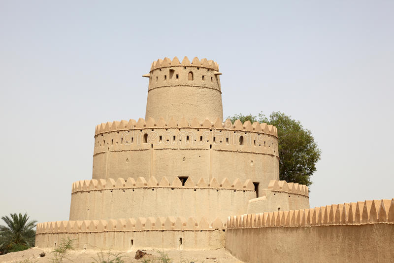 Oud fort van Al Ain, Abu Dhabi royalty-vrije stock foto's