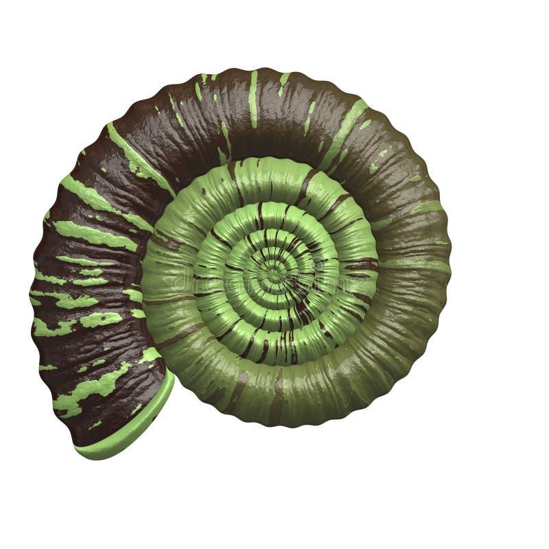 Oud fossiel vector illustratie