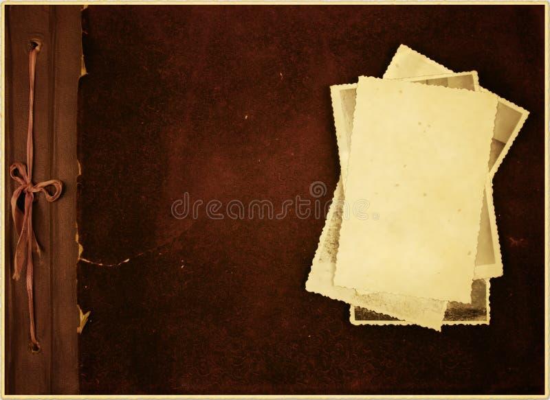 Oud fotoalbum. stock foto