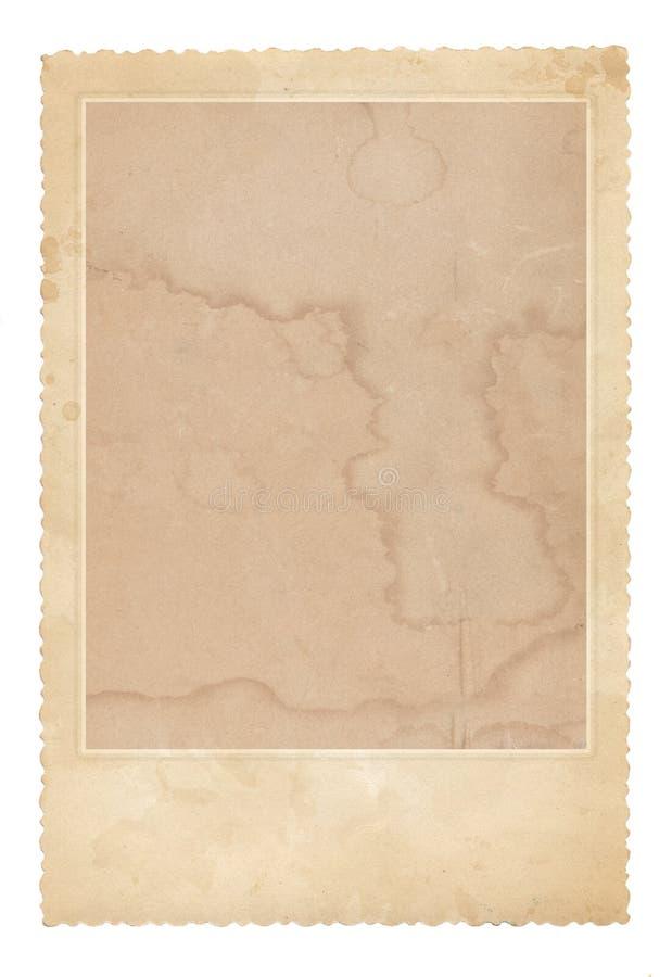 Oud fotoframe Uitstekend document Retro kaart stock fotografie