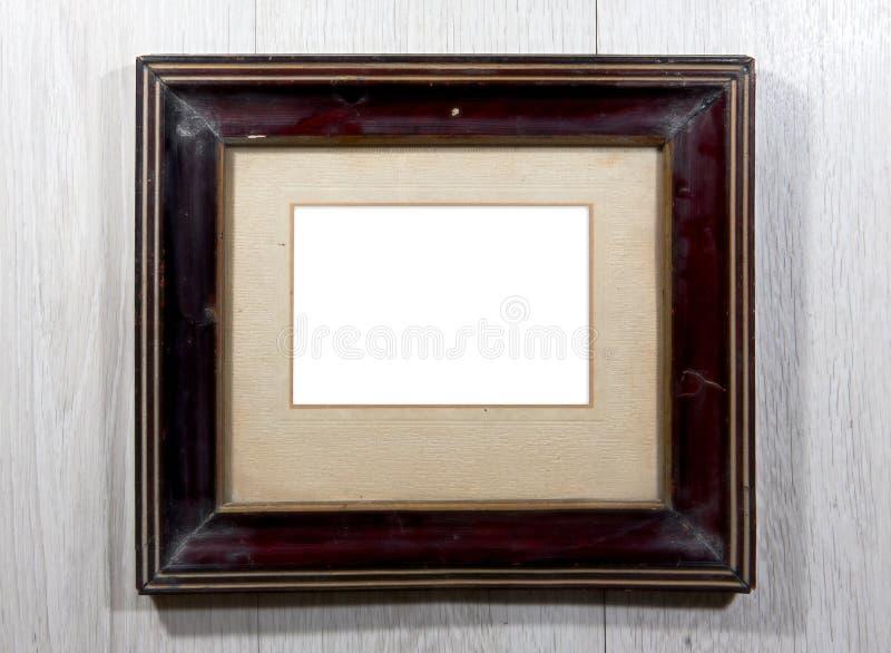 Oud fotokader op de muur royalty-vrije stock foto