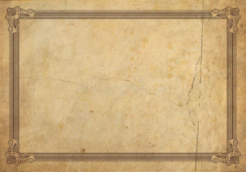 Oud frame stock illustratie