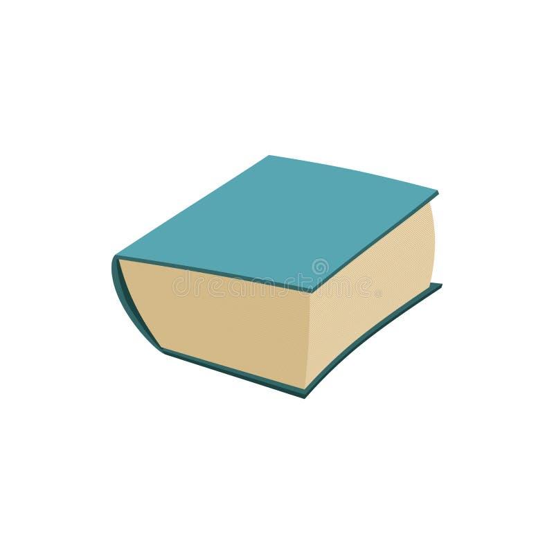 Oud geïsoleerd boek dik oud volume over witte achtergrond vector illustratie