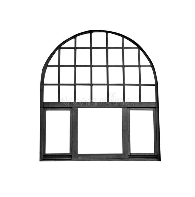 Oud geïsoleerd raamkozijn royalty-vrije stock afbeelding