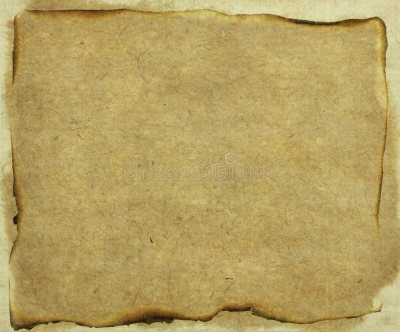 Oud gebrand document royalty-vrije stock fotografie