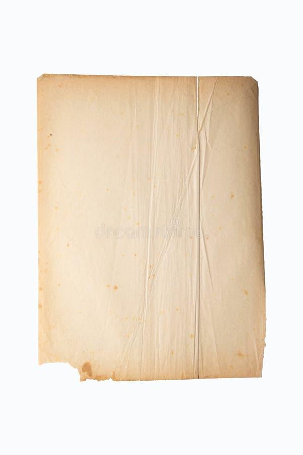 Oud geel archivistisch textuurblad van document stock afbeelding