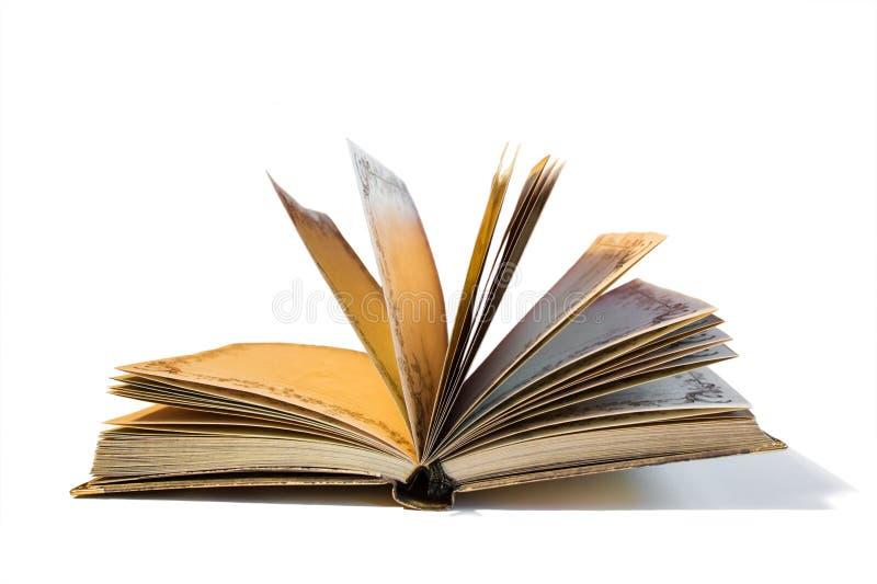 Oud geel notitieboekje stock fotografie
