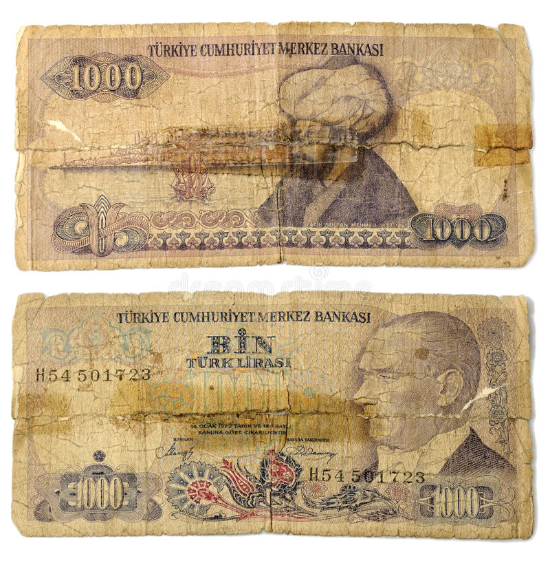 Oud geld stock foto