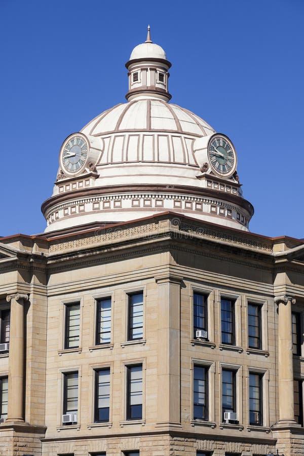 Oud gerechtsgebouw in Lincoln, Logan County stock fotografie