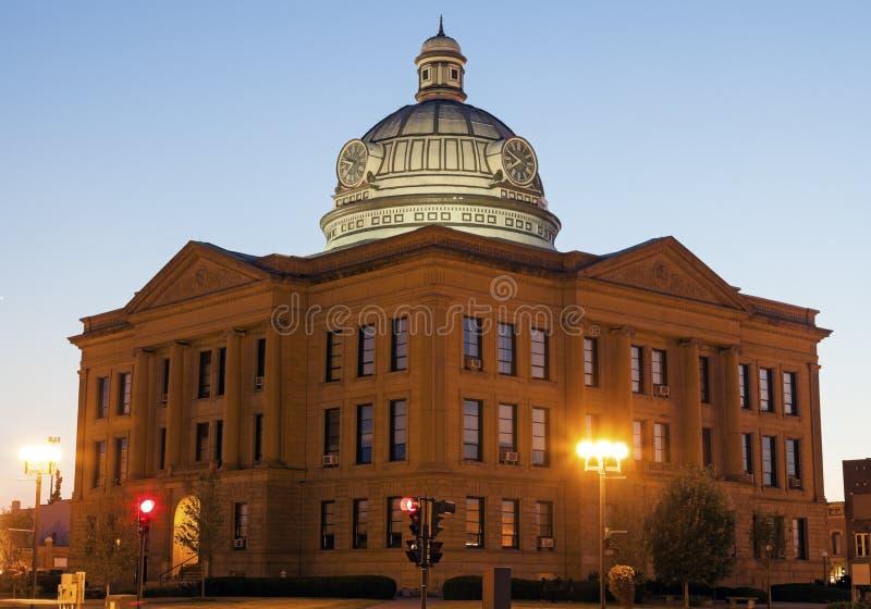 Oud gerechtsgebouw in Lincoln, Logan County royalty-vrije stock foto's