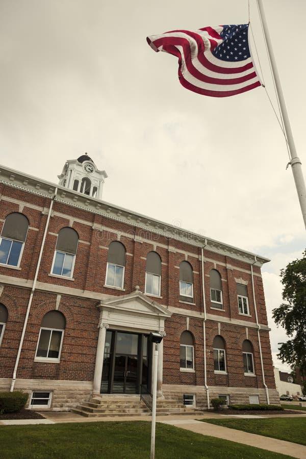 Oud gerechtsgebouw in Marshall, Clark County stock fotografie