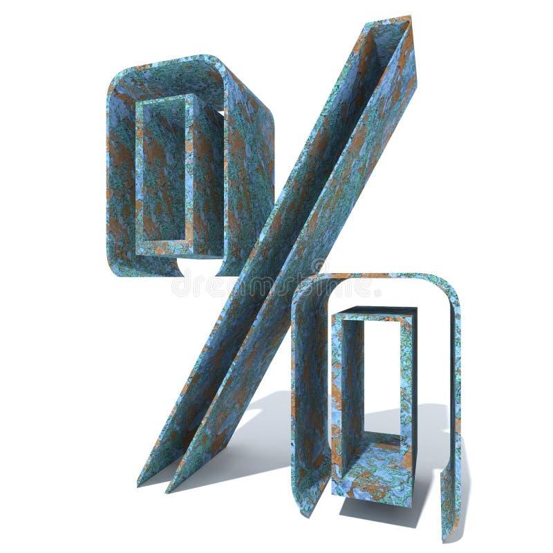 Oud geroest metaaldoopvont, ijzer of staal de industriestuk royalty-vrije illustratie