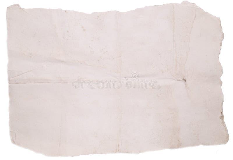Oud gescheurd document royalty-vrije stock fotografie
