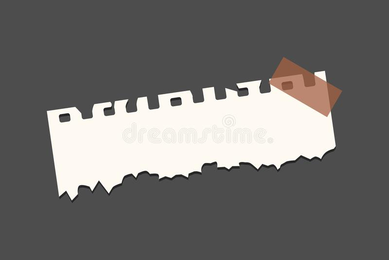 Oud gescheurd document met haveloze rand Uitstekende notadocumenten vectorillustratie vector illustratie